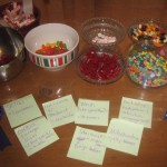 Then, we decided what kind of candy would stand for each part of the cell.